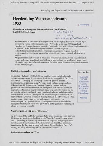 Watersnood documentatie 1953 - diversen 2009