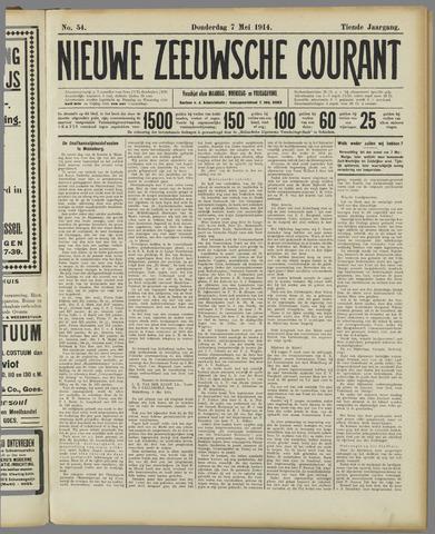 Nieuwe Zeeuwsche Courant 1914-05-07