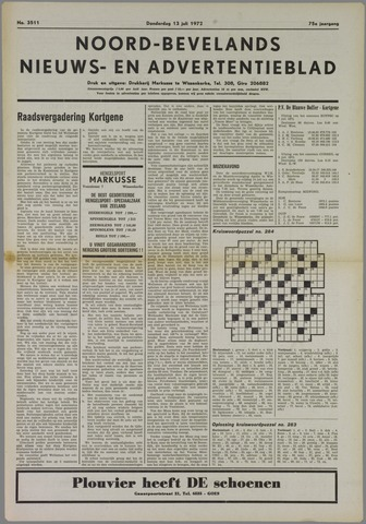 Noord-Bevelands Nieuws- en advertentieblad 1972-07-13