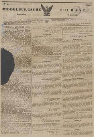 Middelburgsche Courant 1843-01-05