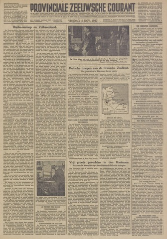 Provinciale Zeeuwse Courant 1942-11-13