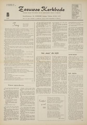 Zeeuwsche kerkbode, weekblad gewijd aan de belangen der gereformeerde kerken/ Zeeuwsch kerkblad 1970-12-24
