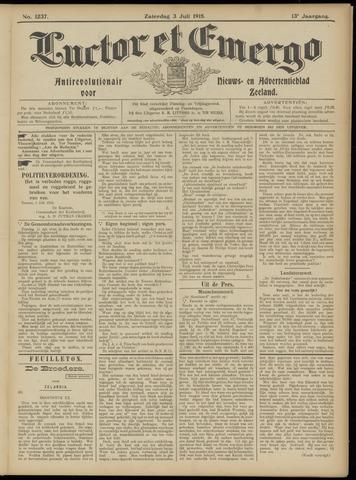 Luctor et Emergo. Antirevolutionair nieuws- en advertentieblad voor Zeeland / Zeeuwsch-Vlaanderen. Orgaan ter verspreiding van de christelijke beginselen in Zeeuwsch-Vlaanderen 1915-07-03