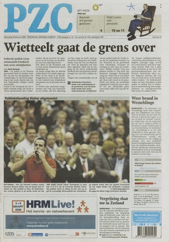 Provinciale Zeeuwse Courant 2008-02-20