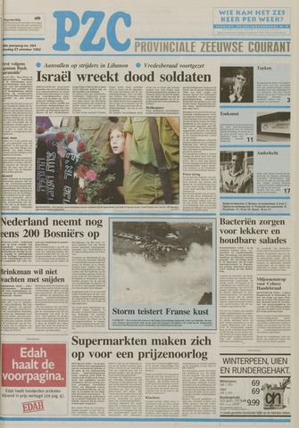 Provinciale Zeeuwse Courant 1992-10-27