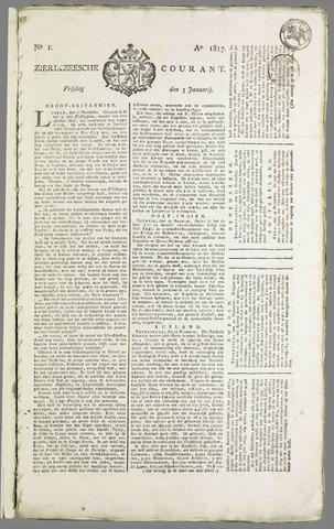 Zierikzeesche Courant 1817