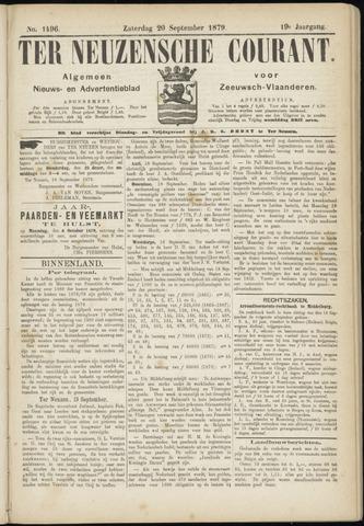 Ter Neuzensche Courant. Algemeen Nieuws- en Advertentieblad voor Zeeuwsch-Vlaanderen / Neuzensche Courant ... (idem) / (Algemeen) nieuws en advertentieblad voor Zeeuwsch-Vlaanderen 1879-09-20