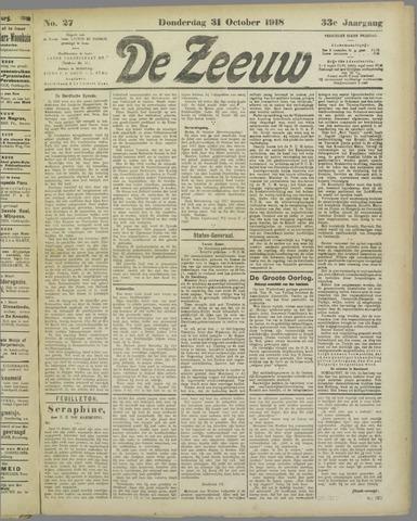 De Zeeuw. Christelijk-historisch nieuwsblad voor Zeeland 1918-10-31