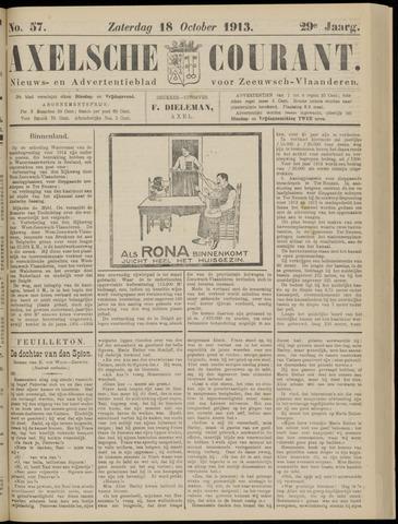 Axelsche Courant 1913-10-18