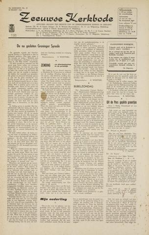 Zeeuwsche kerkbode, weekblad gewijd aan de belangen der gereformeerde kerken/ Zeeuwsch kerkblad 1964-03-20