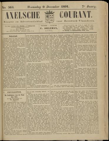 Axelsche Courant 1891-12-09