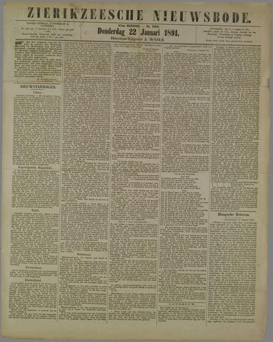Zierikzeesche Nieuwsbode 1891-01-22