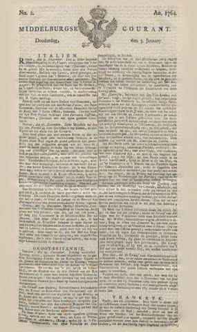Middelburgsche Courant 1764-01-05