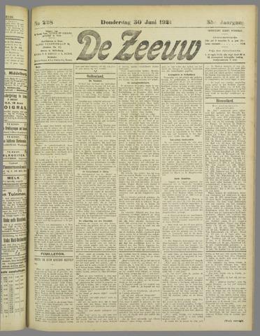 De Zeeuw. Christelijk-historisch nieuwsblad voor Zeeland 1921-06-30