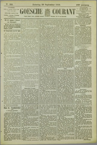Goessche Courant 1919-09-20