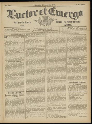 Luctor et Emergo. Antirevolutionair nieuws- en advertentieblad voor Zeeland / Zeeuwsch-Vlaanderen. Orgaan ter verspreiding van de christelijke beginselen in Zeeuwsch-Vlaanderen 1913-08-13