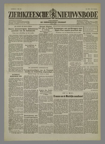 Zierikzeesche Nieuwsbode 1954-05-01