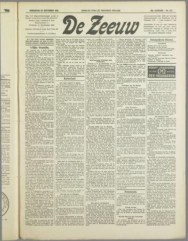 De Zeeuw. Christelijk-historisch nieuwsblad voor Zeeland 1934-09-20