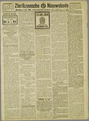 Zierikzeesche Nieuwsbode 1926-01-04