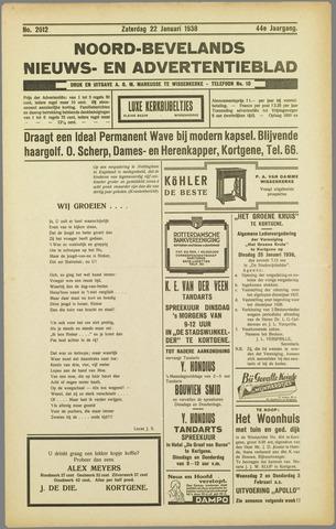 Noord-Bevelands Nieuws- en advertentieblad 1938-01-22