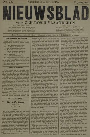 Nieuwsblad voor Zeeuwsch-Vlaanderen 1892-03-05