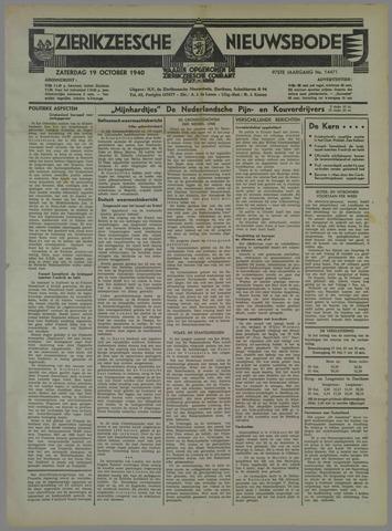 Zierikzeesche Nieuwsbode 1940-10-19