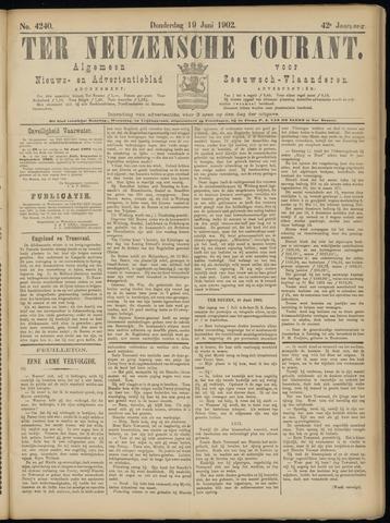 Ter Neuzensche Courant. Algemeen Nieuws- en Advertentieblad voor Zeeuwsch-Vlaanderen / Neuzensche Courant ... (idem) / (Algemeen) nieuws en advertentieblad voor Zeeuwsch-Vlaanderen 1902-06-19