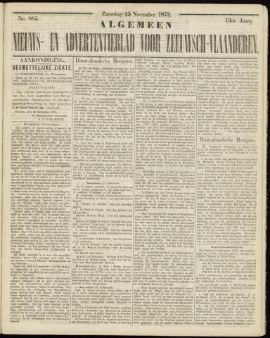 Ter Neuzensche Courant. Algemeen Nieuws- en Advertentieblad voor Zeeuwsch-Vlaanderen / Neuzensche Courant ... (idem) / (Algemeen) nieuws en advertentieblad voor Zeeuwsch-Vlaanderen 1873-11-15