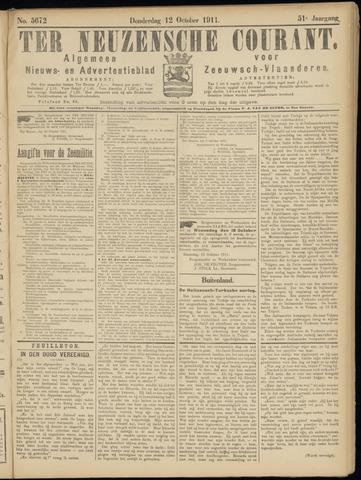 Ter Neuzensche Courant. Algemeen Nieuws- en Advertentieblad voor Zeeuwsch-Vlaanderen / Neuzensche Courant ... (idem) / (Algemeen) nieuws en advertentieblad voor Zeeuwsch-Vlaanderen 1911-10-12