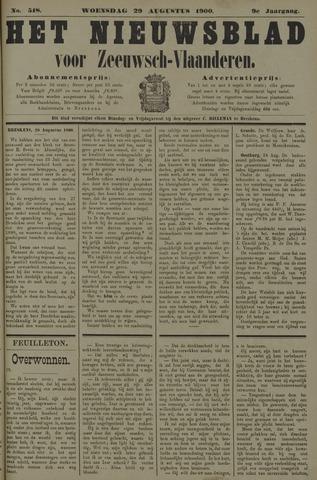 Nieuwsblad voor Zeeuwsch-Vlaanderen 1900-08-29