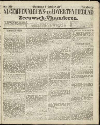 Ter Neuzensche Courant. Algemeen Nieuws- en Advertentieblad voor Zeeuwsch-Vlaanderen / Neuzensche Courant ... (idem) / (Algemeen) nieuws en advertentieblad voor Zeeuwsch-Vlaanderen 1867-10-09