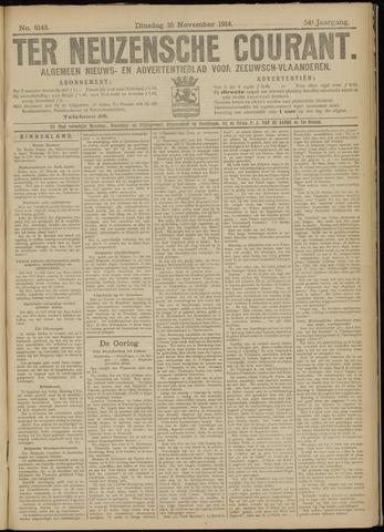 Ter Neuzensche Courant. Algemeen Nieuws- en Advertentieblad voor Zeeuwsch-Vlaanderen / Neuzensche Courant ... (idem) / (Algemeen) nieuws en advertentieblad voor Zeeuwsch-Vlaanderen 1914-11-10