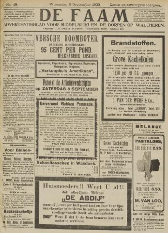 de Faam en de Faam/de Vlissinger 1923-09-05