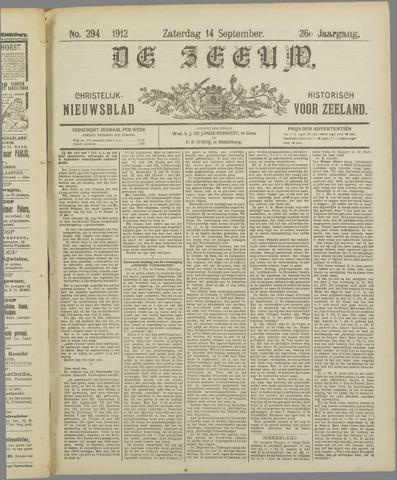 De Zeeuw. Christelijk-historisch nieuwsblad voor Zeeland 1912-09-14
