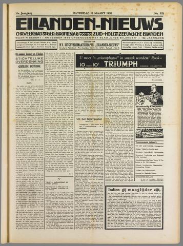 Eilanden-nieuws. Christelijk streekblad op gereformeerde grondslag 1938-03-12