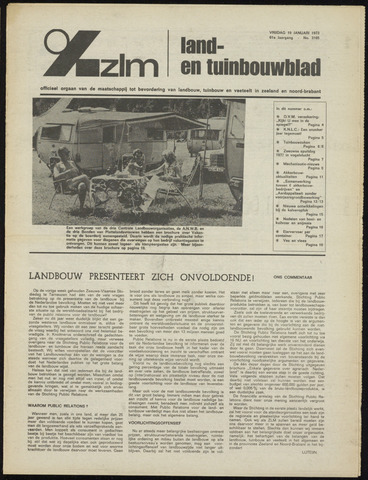 Zeeuwsch landbouwblad ... ZLM land- en tuinbouwblad 1973-01-19