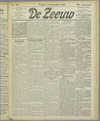 De Zeeuw. Christelijk-historisch nieuwsblad voor Zeeland 1918-11-08