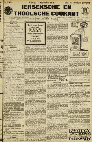 Ierseksche en Thoolsche Courant 1926-09-17