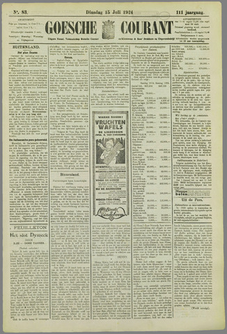 Goessche Courant 1924-07-15