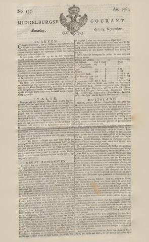 Middelburgsche Courant 1761-11-14