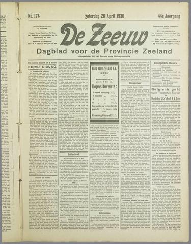 De Zeeuw. Christelijk-historisch nieuwsblad voor Zeeland 1930-04-26