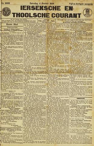 Ierseksche en Thoolsche Courant 1919-10-04