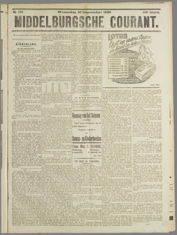 Middelburgsche Courant 1925-09-16
