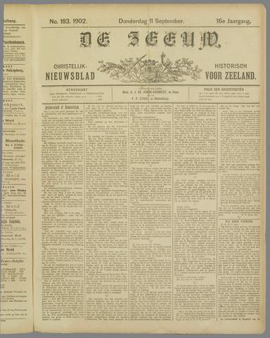 De Zeeuw. Christelijk-historisch nieuwsblad voor Zeeland 1902-09-11