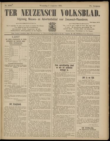 Ter Neuzensch Volksblad. Vrijzinnig nieuws- en advertentieblad voor Zeeuwsch- Vlaanderen / Zeeuwsch Nieuwsblad. Nieuws- en advertentieblad voor Zeeland 1916-08-02