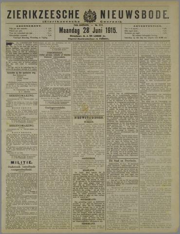 Zierikzeesche Nieuwsbode 1915-06-28