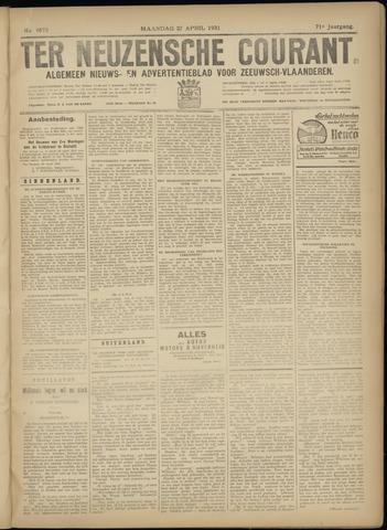 Ter Neuzensche Courant. Algemeen Nieuws- en Advertentieblad voor Zeeuwsch-Vlaanderen / Neuzensche Courant ... (idem) / (Algemeen) nieuws en advertentieblad voor Zeeuwsch-Vlaanderen 1931-04-27
