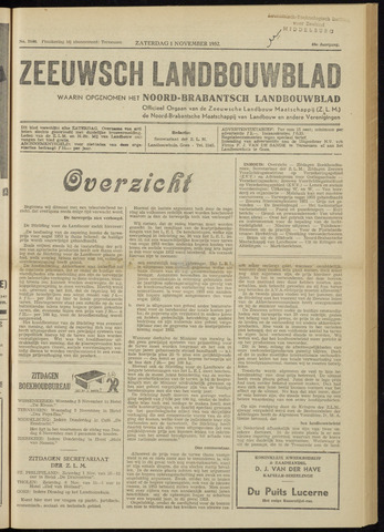 Zeeuwsch landbouwblad ... ZLM land- en tuinbouwblad 1952-11-01