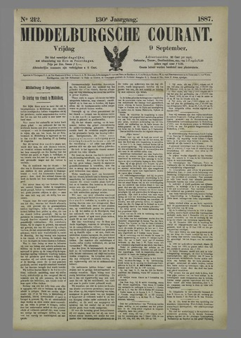 Middelburgsche Courant 1887-09-09