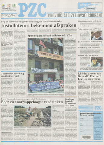 Provinciale Zeeuwse Courant 2002-08-27